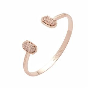 Kendra Scott Elton Bracelet In Rose Gold Drusy
